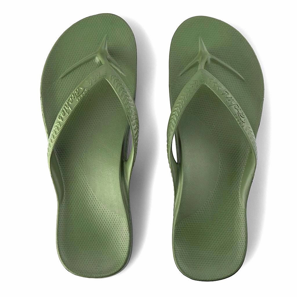 ARCHIES THONGS KHAKI - Noosa Footwear Co.