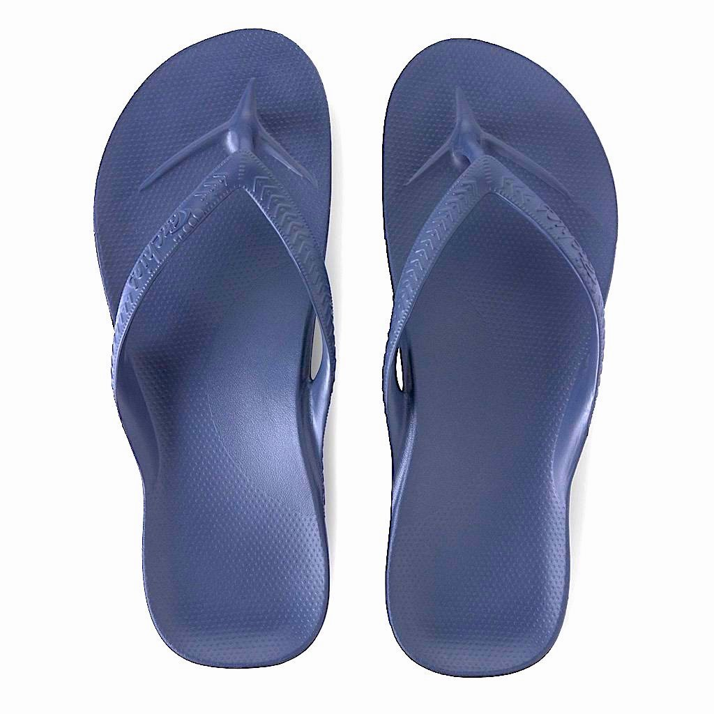 ARCHIES THONGS NAVY - Noosa Footwear Co.