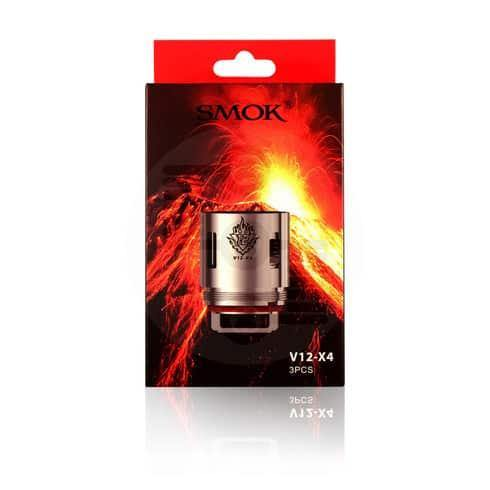 SMOK V12-X4 QUADRUPLE Coils for TFV12 | 0.15 ohms (3-pack) - Underground Vapes Inc - Woodstock