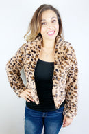 Wild Thing Leopard Print Short Jacket