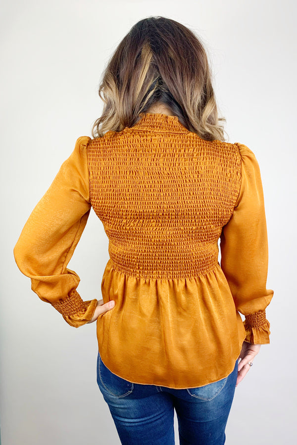 Fire Burning String Ruched Blouse