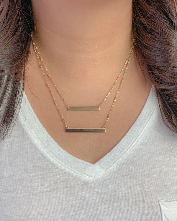 Karla Double Bar Gold Necklace