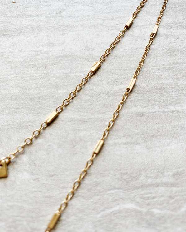 gold double bar necklace