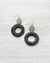 black weave hoop earrings