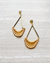basket weave gold earrings