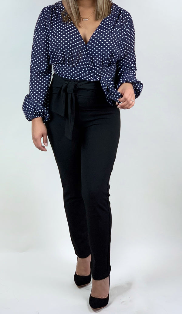 Business Talk Skinny Heavy Knit Pants
