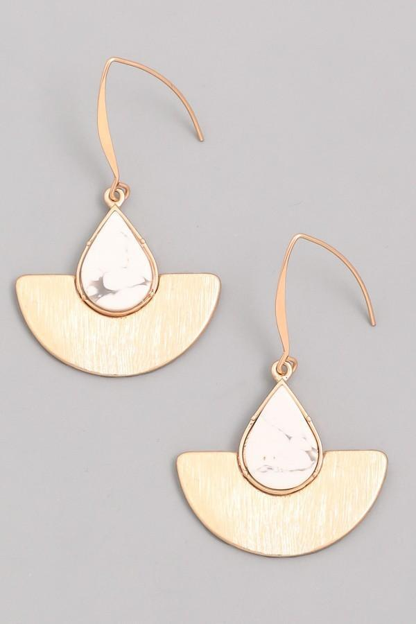 Tealight Boutique Earrings Gold Half Moon Teardrop Earrings