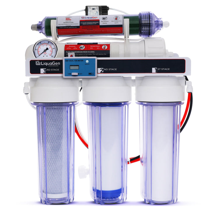 5 Stage RO/DI Water Filter System - 75 GPD (1-OT-75) - LiquaGen Water