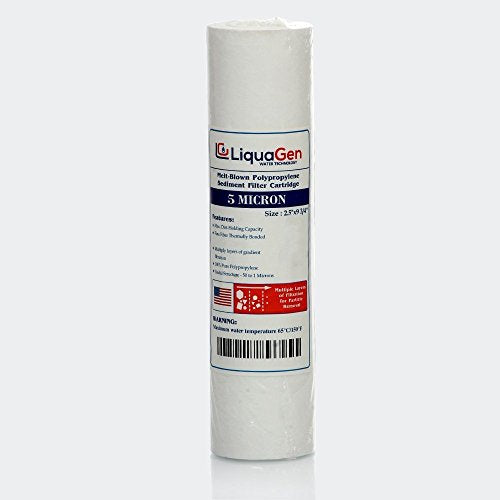 LiquaGen - 5 Micron Polypropylene Sediment Filter (2.75 x 9.75) for any standard RO Unit - LiquaGen Water