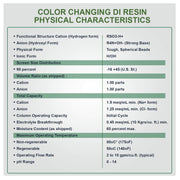 LiquaGen Water RO/DI Color Changing Resin Deionization | 3 LBS Bag MBD-30 - LiquaGen Water
