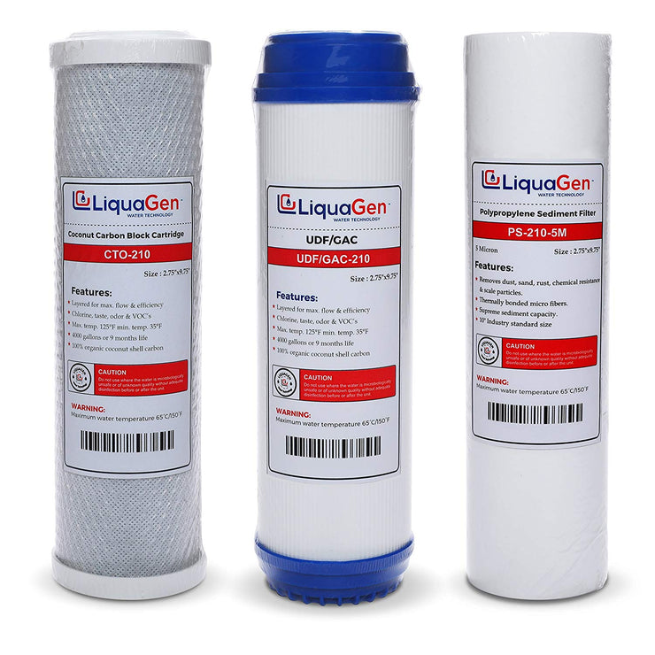 Pre-Filter Kit (Sediment / UDF / CARBON ) - LiquaGen Water