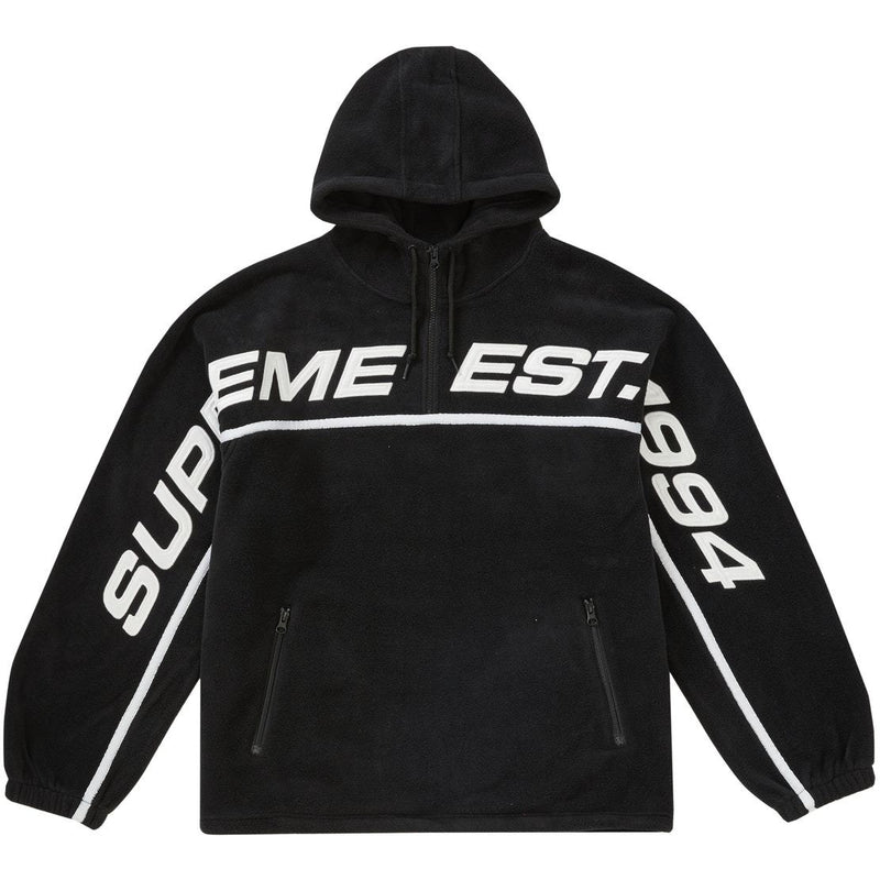 Supreme - Polartec Half Zip Hooded Sweatshirt (Black)