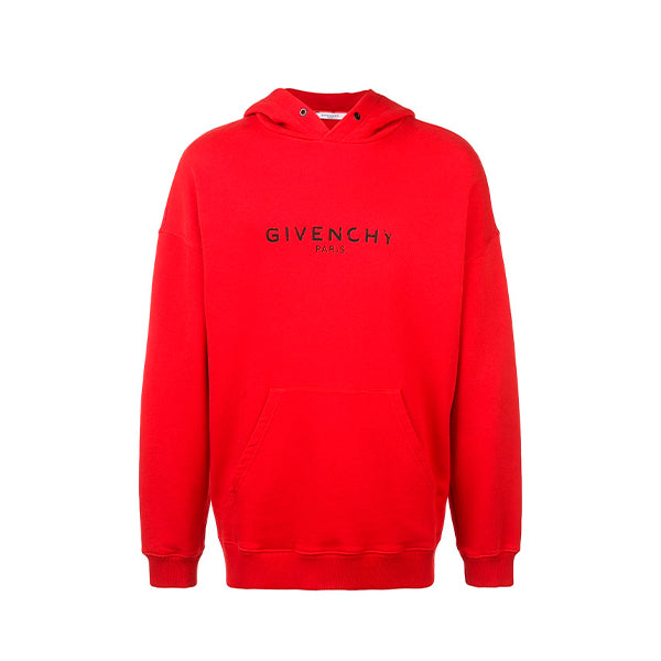 Givenchy - Distressed Hoodie (Red)