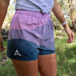 Mountains at Sunset Shorts (Women's)