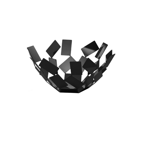 ALESSI SCIROCCO FRUIT BASKET IN BLACK