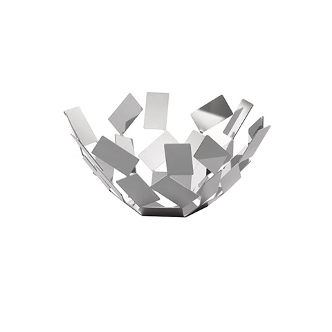 ALESSI SCIROCCO FRUIT BASKET IN STAINLESS STEEL