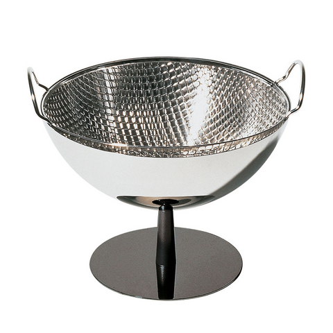ALESSI FOOTED FRUIT BOWL WITH COLANDER