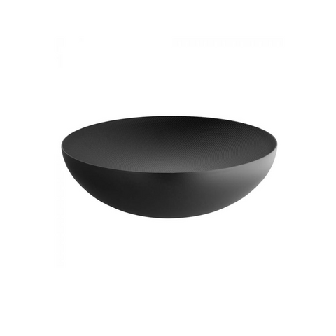 ALESSI MOIRE TEXTURED DOUBLE WALL SMALL BOWL IN BLACK