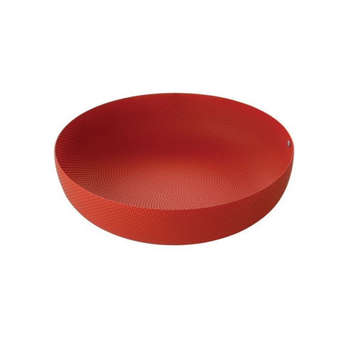 ALESSI MOIRE TEXTURED MEDIUM BOWL IN RED