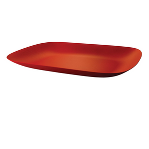 ALESSI MOIRE TEXTURED TRAY IN RED