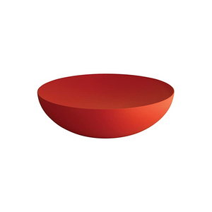 ALESSI MOIRE TEXTURED DOUBLE WALL SMALL BOWL IN RED