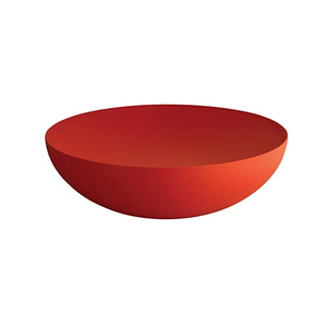 ALESSI MOIRE TEXTURED DOUBLE WALL LARGE BOWL IN RED