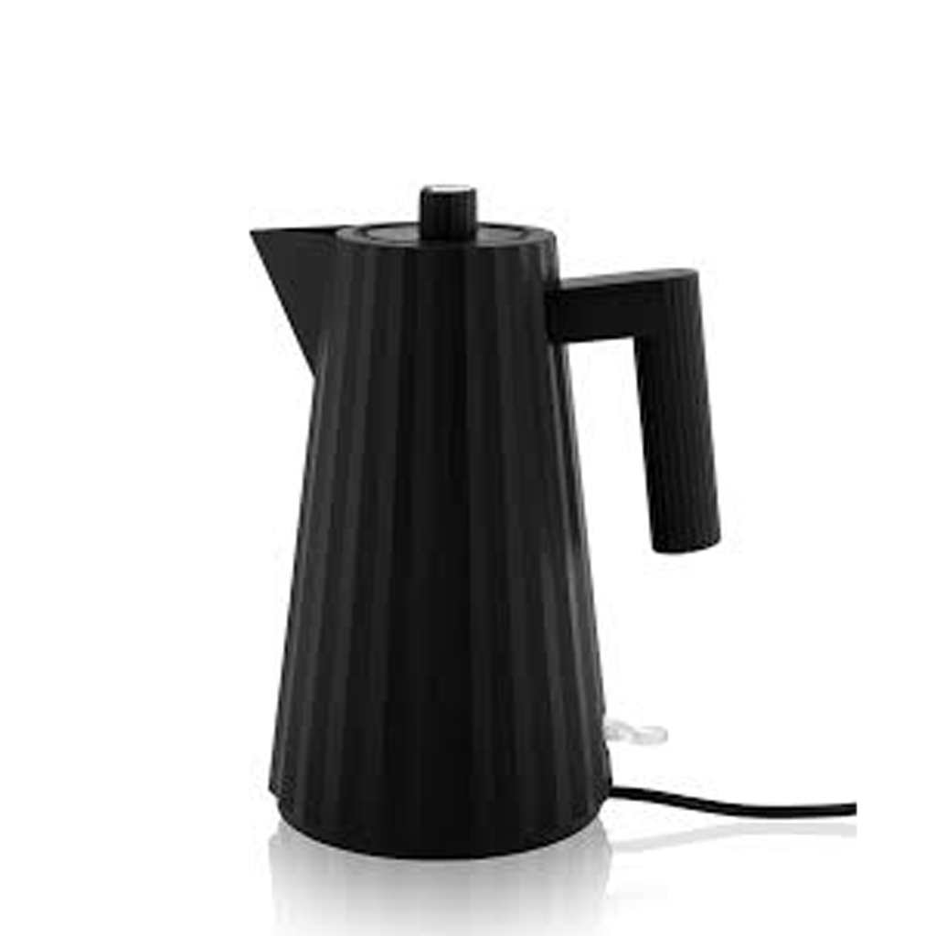 ALESSI PLISSE ELECTRIC KETTLE IN BLACK