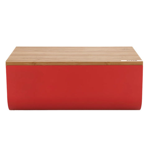 ALESSI MATTINA BREAD BOX WITH BOARD IN RED
