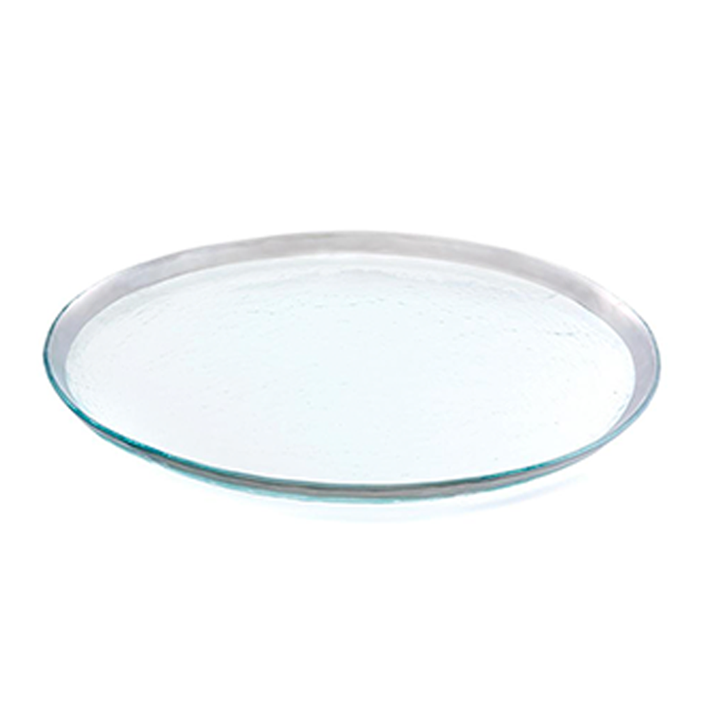 ANNIEGLASS ROMAN ANTIQUE PARTY PLATTER IN PLATINUM