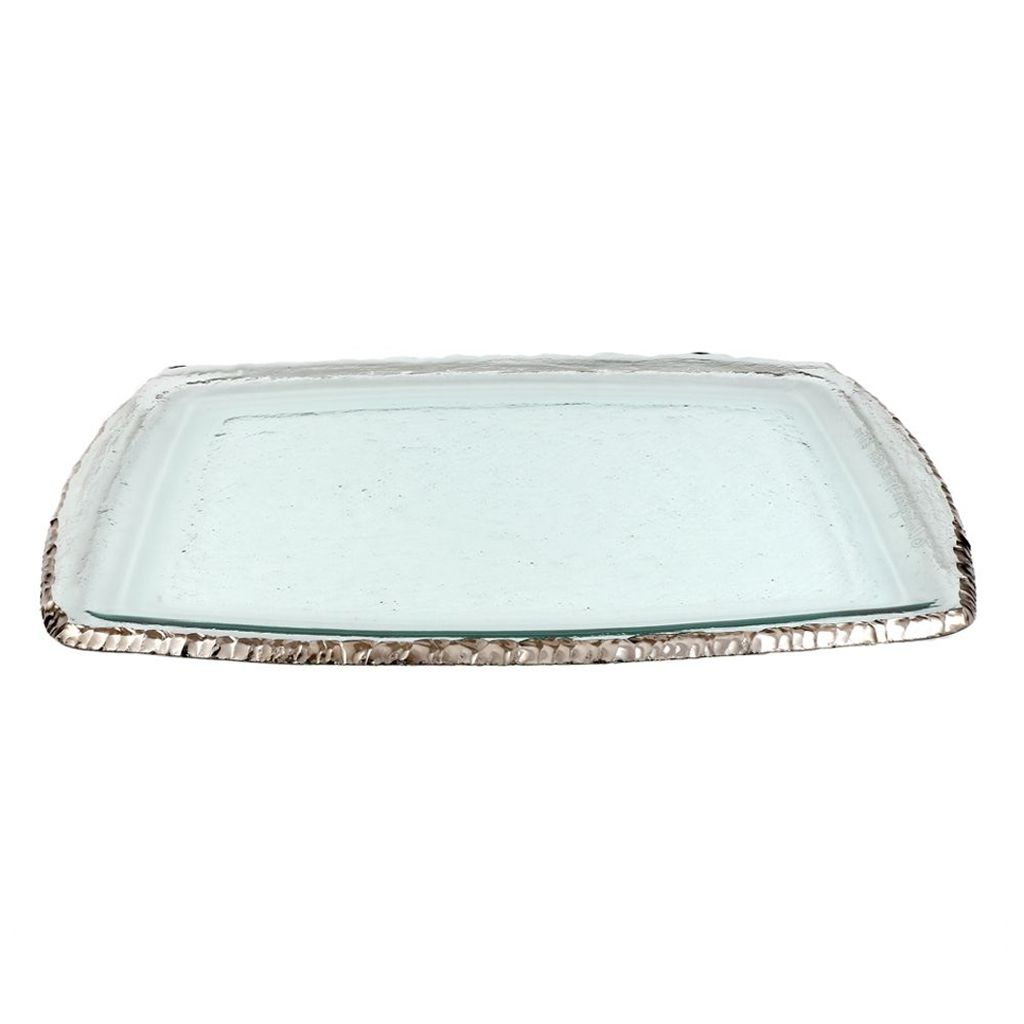 ANNIEGLASS EDGEY MARTINI TRAY IN PLATINUM