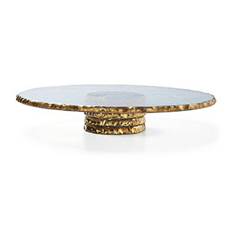 ANNIEGLASS EDGEY ROUND PEDESTAL IN GOLD