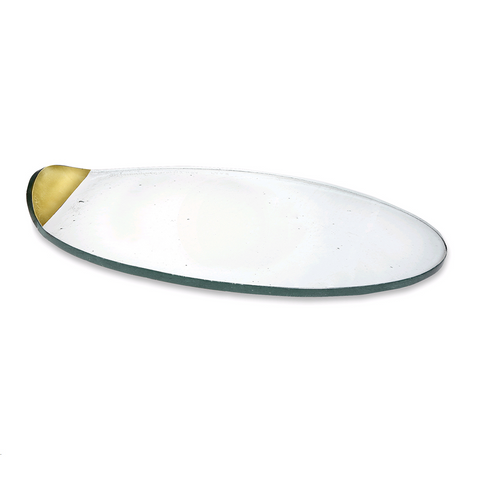 ANNIEGLASS MOD LARGE CHEESE BOARD IN GOLD