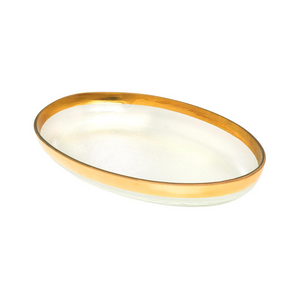 ANNIEGLASS MOD LARGE OVAL PLATTER IN GOLD