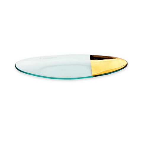ANNIEGLASS MOD SMALL OVAL SERVER IN GOLD