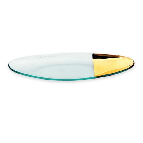 ANNIEGLASS MOD MEDIUM OVAL SERVER IN GOLD