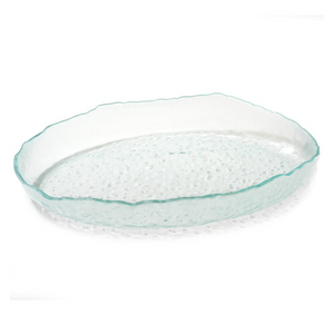 ANNIEGLASS SALT OVAL SERVING DISH