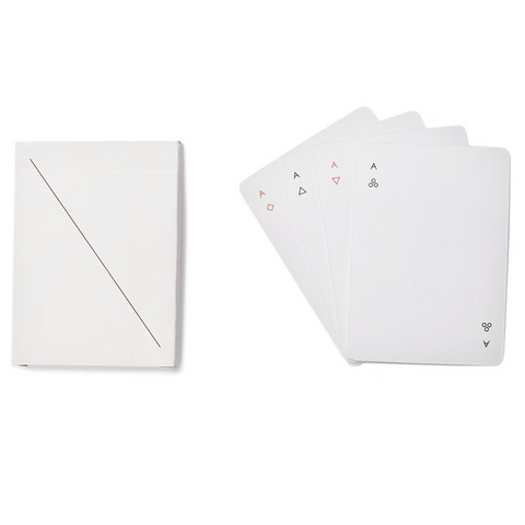MINIMUM DESIGN PLAYING CARDS IN WHITE