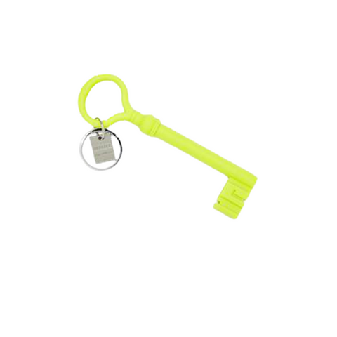 18th CENTURY ITALIAN KEY KEYCHAIN IN CHARTREUSE