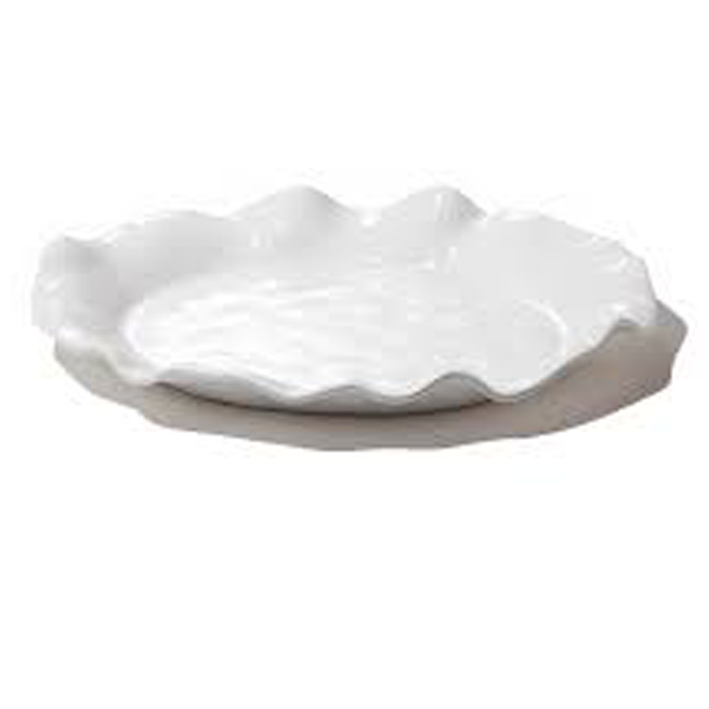 HAVANA OVAL PLATTER IN WHITE