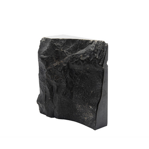 ROCK HEWN BOOKENDS IN MARBLE - PAIR