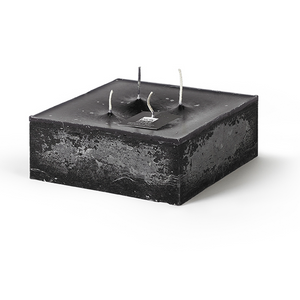 CANDLE BLOCK WITH 4 WICKS IN BLACK