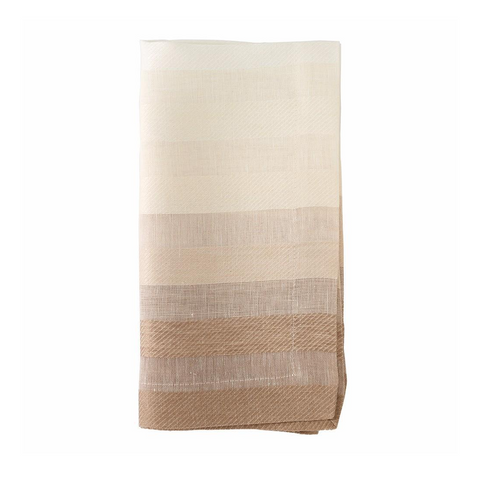 GRADIENT STRIPE NAPKIN IN BEIGE
