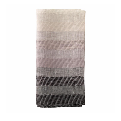 GRADIENT STRIPE NAPKIN IN BLACK