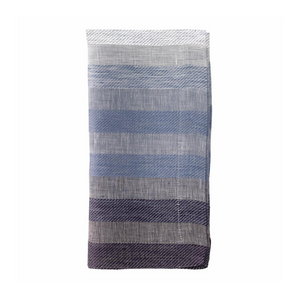 GRADIENT STRIPE NAPKIN IN NAVY