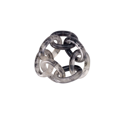 CHAINLINK NAPKIN RING IN SMOKE