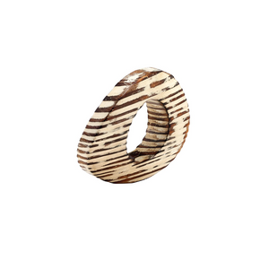 OVAL EYE NAPKIN RING IN BEIGE