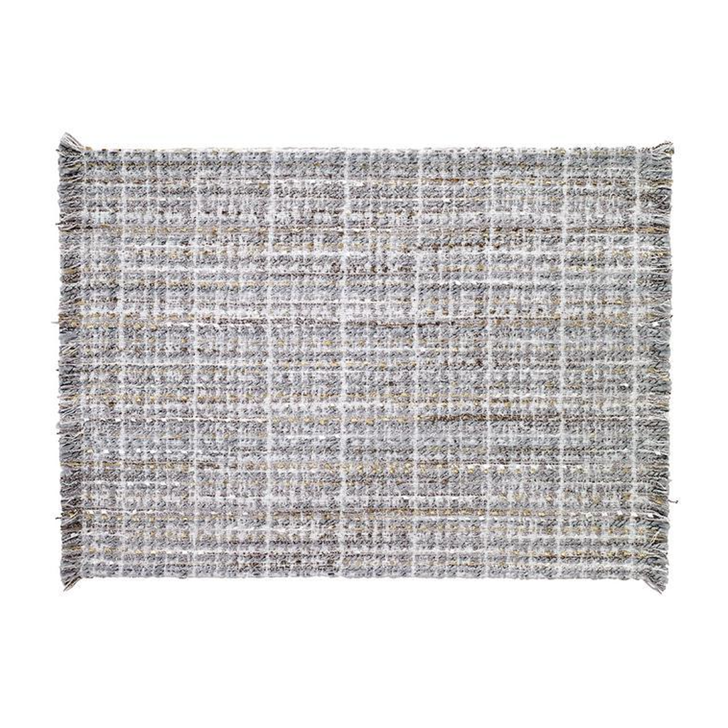 COCO METALLIC TWEED PLACEMAT IN SILVER