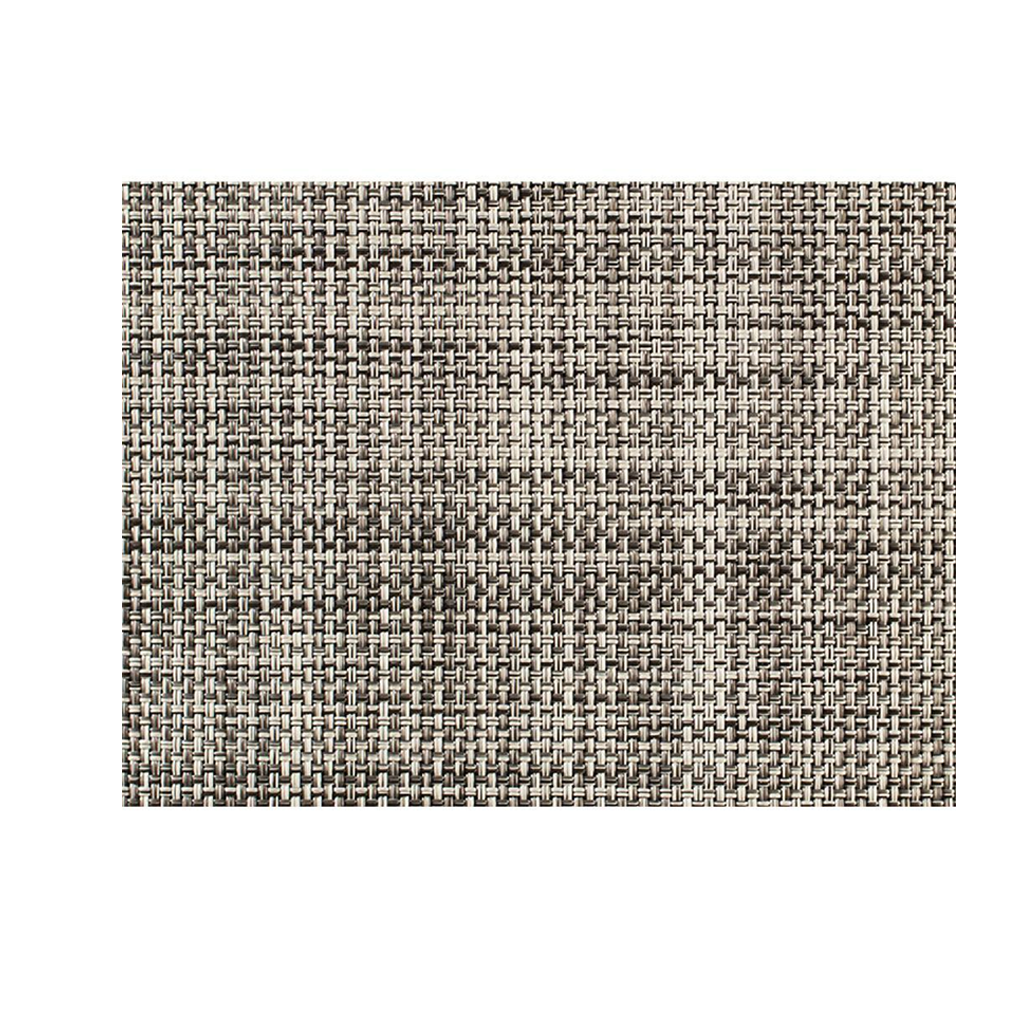 "CHILEWICH MINI BASKETWEAVE MEDIUM FLOOR MAT IN GRAVEL - 35"" x 48"""