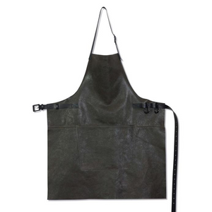 VINTAGE GREY LEATHER APRON