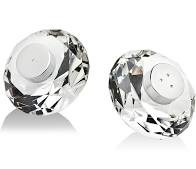 RIO CRYSTAL SALT + PEPPER SHAKERS